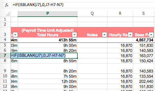Shiftee_attendance_payroll_excel_filter_functions_subtotal